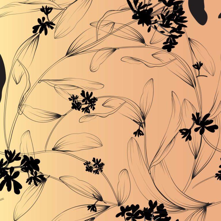 Skizzenheft Blumenmuster
